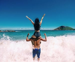 beach, lifestyle, and love image