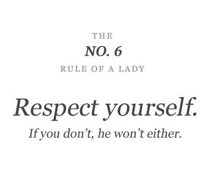 respect, lady, and rules image