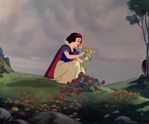 disney, princess, and flowers image