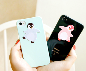 penguin, cute, and iphone cases image