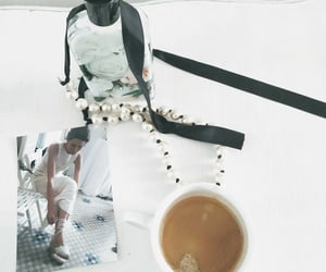 bride, coffee, and flowers image