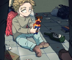 anime, hawks, and cute image