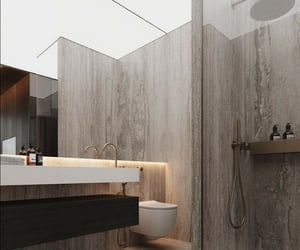 bathroom, beige, and decor image