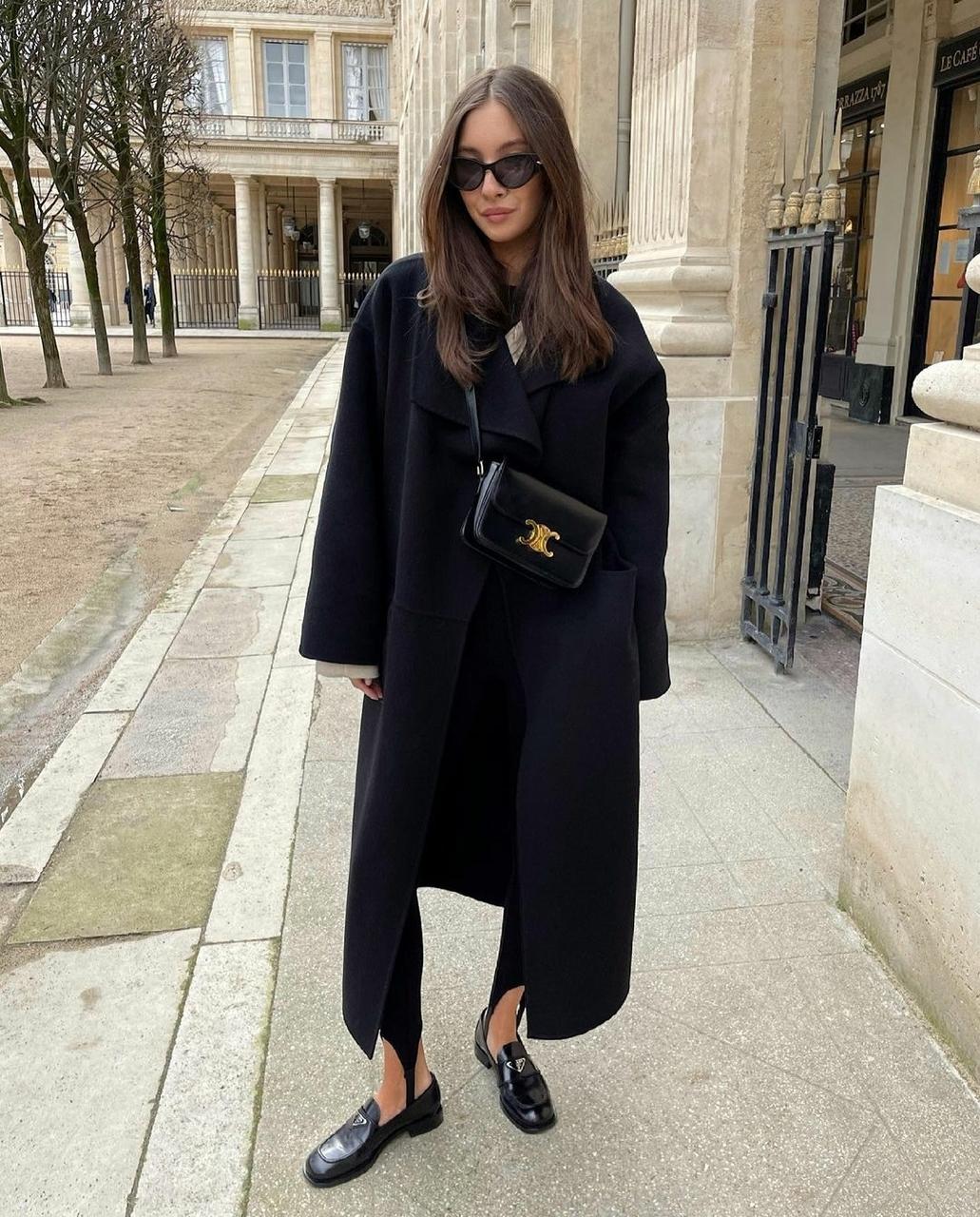 black coat, blogger, and fashion image