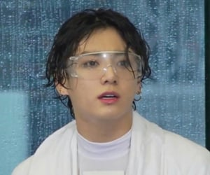 goggles, icon, and wet hair image