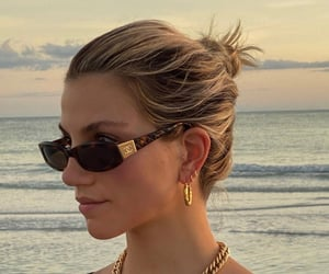 beach, summertime, and sunglasses image