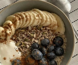 blueberry, banana, and breakfast image