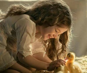 babies, Chicken, and cute girl image