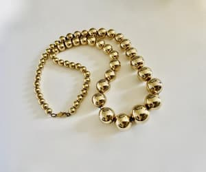 costume jewelry, modernist, and polished gold tone image