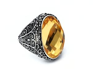etsy, vintage jewelry, and yellow stone image