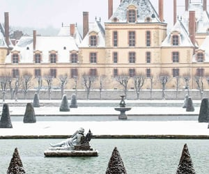 chateau, fontainebleau, and frozen image