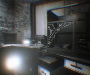 bright, desk, and spiderweb image