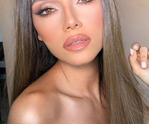 beauty, fake eyelashes, and makeup image