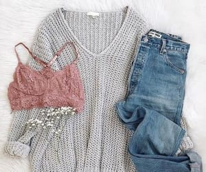 bra, fashion, and jeans image