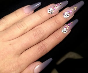 beauty, glam, and diy nails image