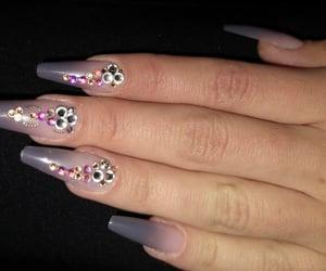 long nails, beauty, and girls image