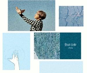 baby blue, bts, and hobi image