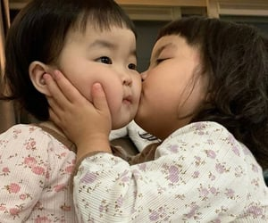 baby, kiss, and smile image