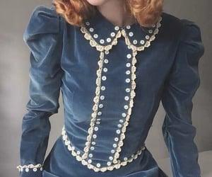 dress, vintage, and blue image