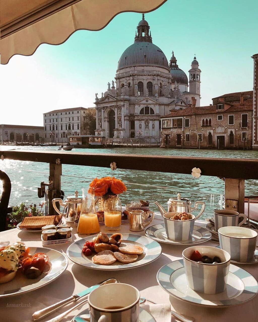 breakfast, italy, and traveling image