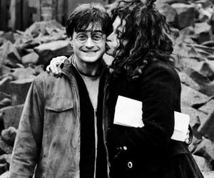 daniel radcliffe, harry potter, and helena bonham carter image