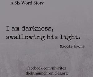 Darkness, light, and writing image