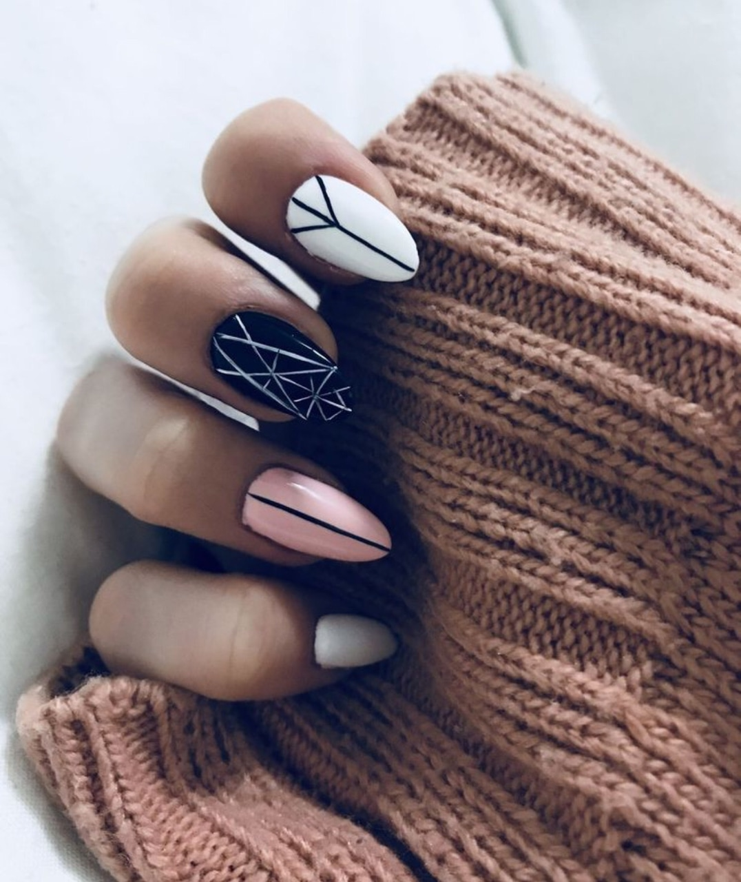 nails, ideas, and pink image