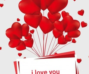 balloons, birthday, and I Love You image