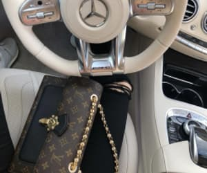 bag, benz, and gold image