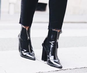 boots, high heels, and leather image