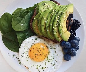 avocado, blueberry, and breakfast image