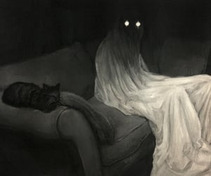 art, creepy, and eyes image