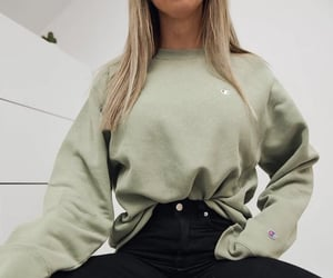 casual, sweater, and champion image