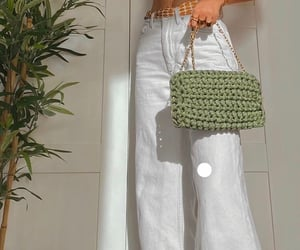 bag, crochet, and fashion image