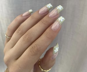 beauty, green nails, and manicure image