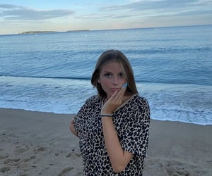 beach, girl, and 📸 image