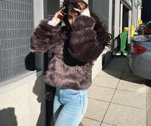 beautiful, brunette, and fur image