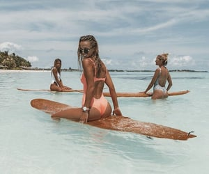 beach, enjoy, and surf image