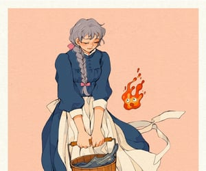 sophie, moving castle, and studio ghibli image