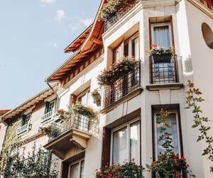 house, flowers, and travel image