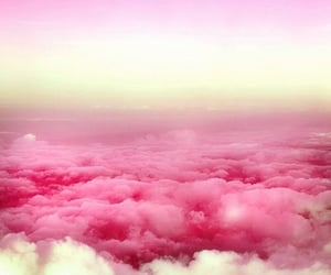 clouds, pink, and white image