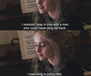 helena bonham carter, love quote, and sad image