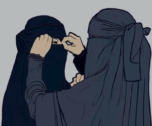 art, niqab, and müslimah image