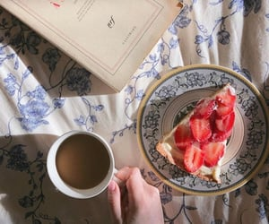 book, coffee, and meal image