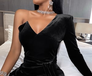 black, glam, and glamour image