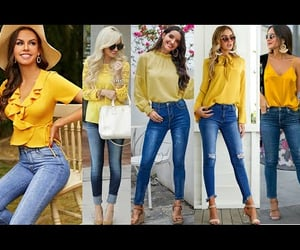 fashion, ootd, and color amarillo image