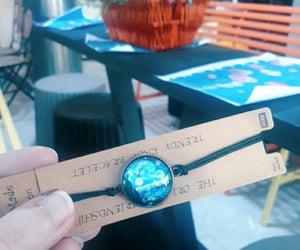 blue, bracelet, and flowers image