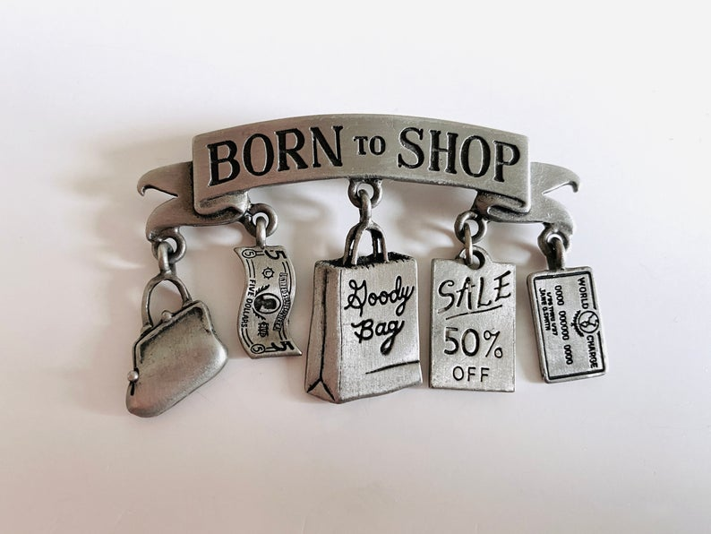 etsy, vintage jewelry, and born to shop image
