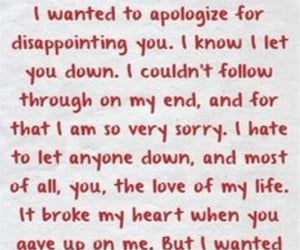 apologize, regrets, and need you image