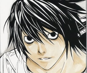 anime, boy, and death note image